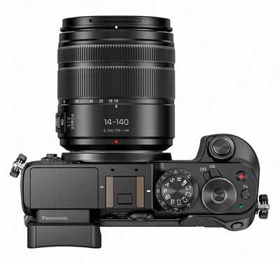 Panasonic Lumix DMC-GX8 digitális fényképezőgép felülről