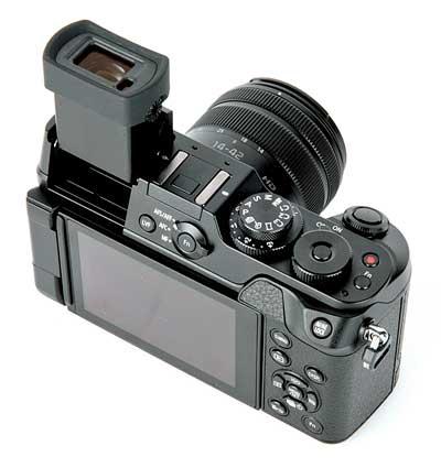 Panasonic Lumix DMC-GX8 digitális fényképezőgép hátulról