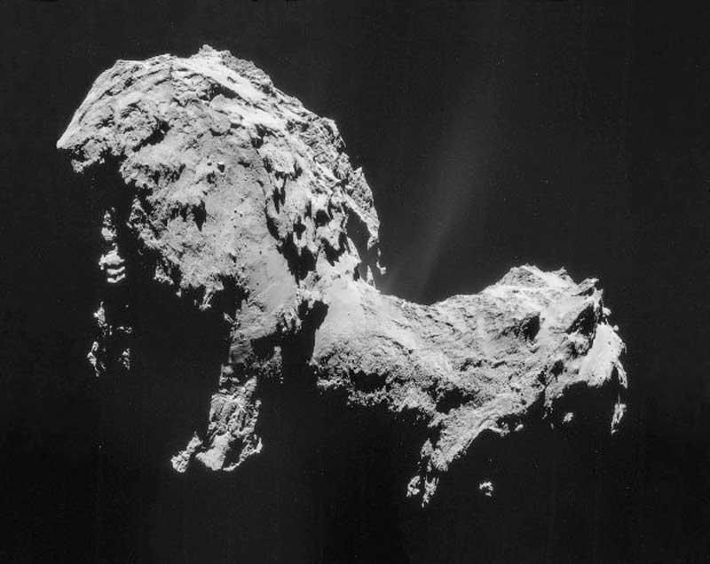 Mikrobák lehetnek a Csuri üstökösön