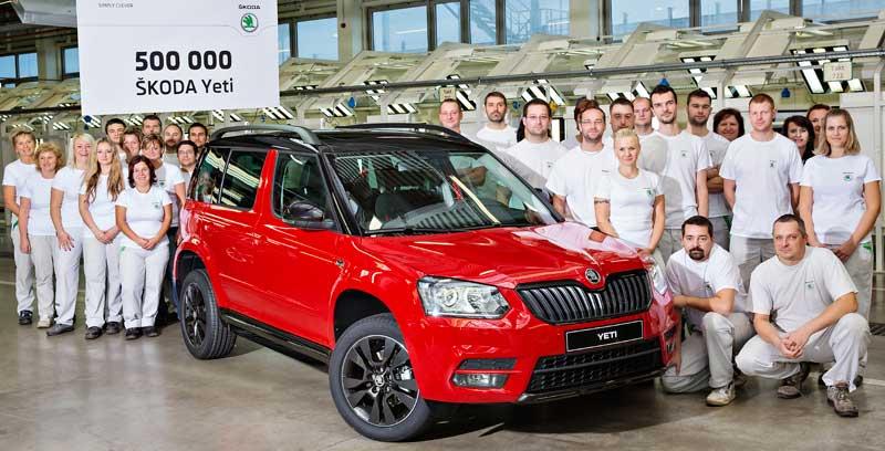 Sikeres a Škoda Yeti, már félmillió készült belőle