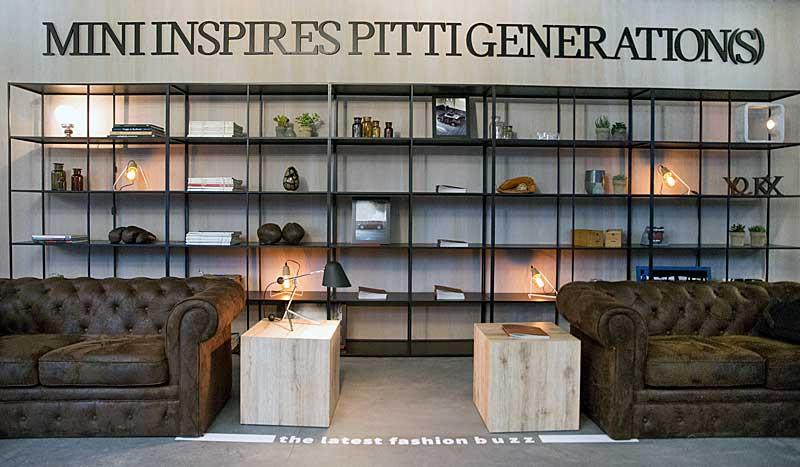 """Egyedi kompozícióval készült a Mini a Firenzében január 12-15. közt megrendezett 89. Pitti Uomo férfidivat-fesztiválra: a """"Mini Gentlemanek Játszótere"""""""